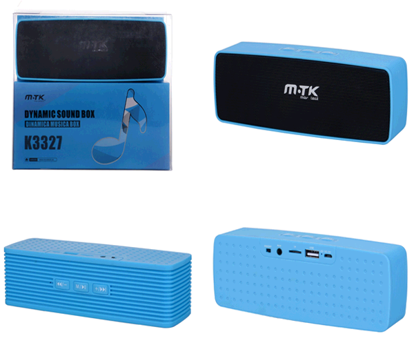 Altavoz k3327 azul Bluetooth msd-FM-USB ONE+