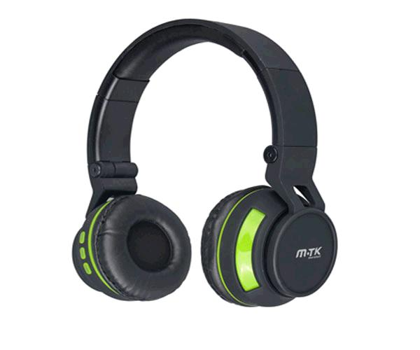 Auriculares MTK k3396  Bluetooth + Microfono verde