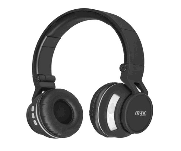 AURICULARES MTK K3396  BLUETOOTH + MICROFONO GRIS
