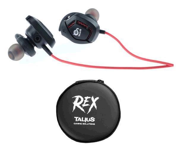 Intrauricular Talius Gaming Rex Negro-Rojo
