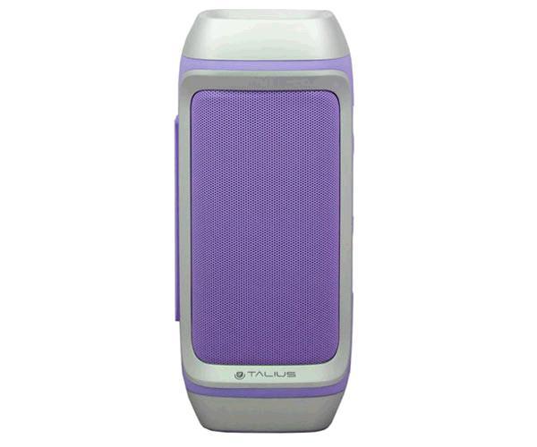 Altavoz Talius 28bt - 10w - Bluetooth - FM - con powerbank 4000mah - morado