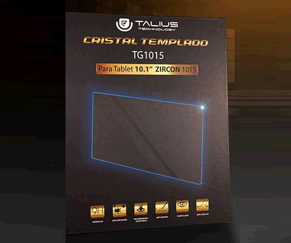 Cristal Templado Talius protector Tg1015 - 10.1 Pulg. - Tablet Zircon 1015 Ips