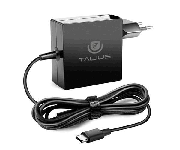Cargador de pared universal Pwa-4011Talius USB Type-C - 65W - Automatico - Carga Rapida