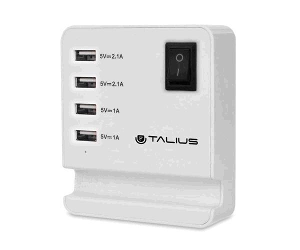 Cargador de pared Talius Cha-4003 - 4x USB 2.0 - Blanco