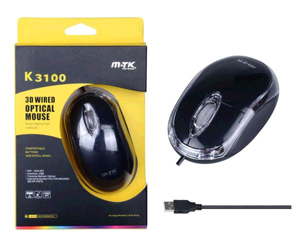 RATON OPTICO USB DINKER K3100 NEGRO MTK