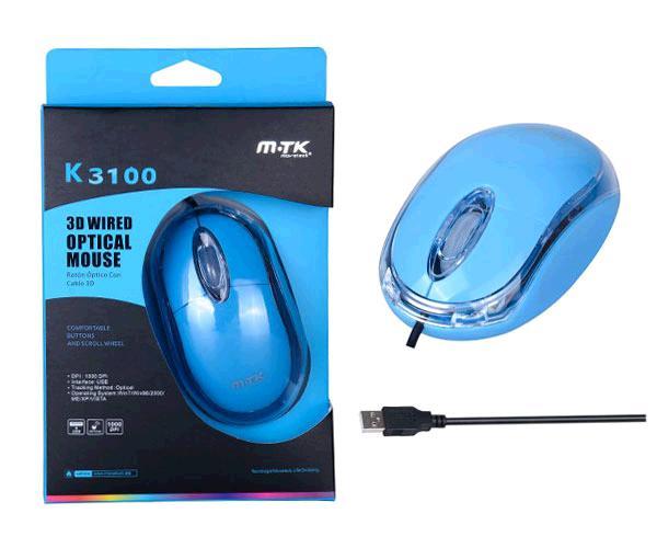RATON OPTICO USB DINKER K3100 AZUL MTK