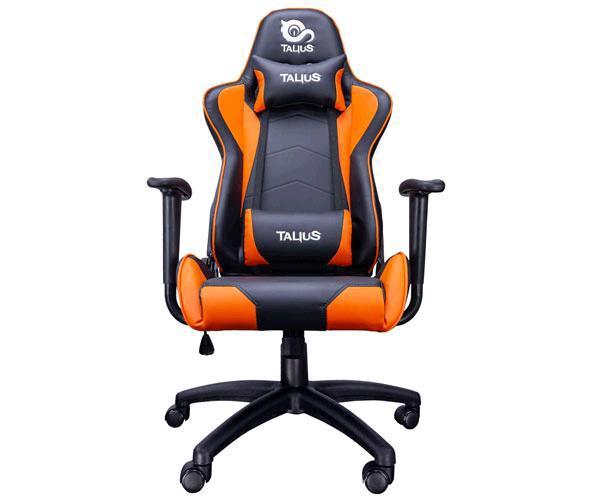 Silla Talius Gaming Gecko V2 - Ruedas Nylon - Brazos fijos - Mecanismo Butterfly - Max 120Kg - Negra-Naranja