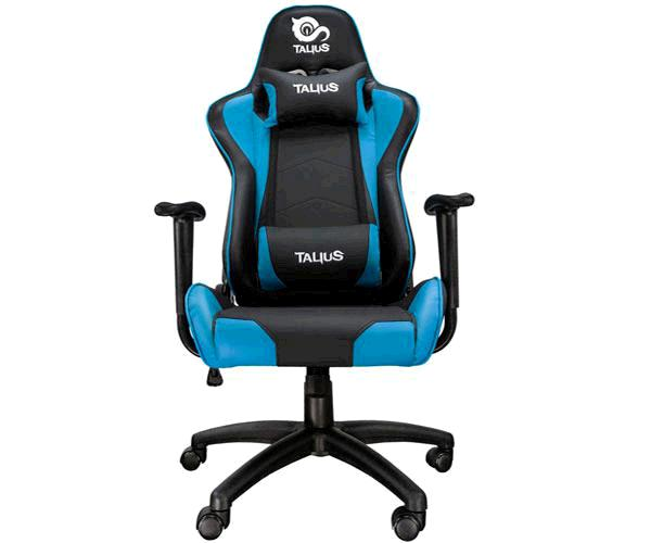 Silla Talius Gaming Gecko V2 - Ruedas Nylon - Brazos fijos - Mecanismo Butterfly - Max 120 Kg - Negra-Azul