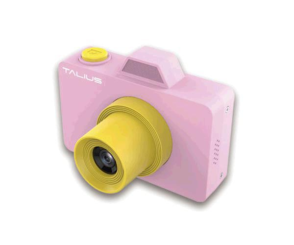 Camara Digital Talius Pico Kids Rosa - 32gb - Video 720p - 18mp - Camara frontal Selfie - Funda + bolsa transporte