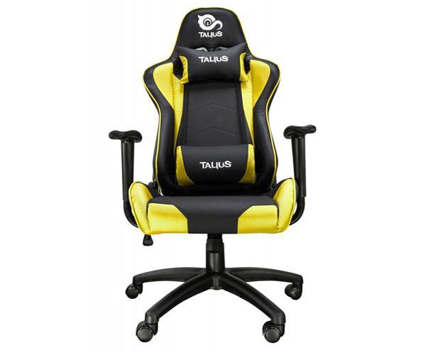 Silla Talius Gaming Gecko V2 - Ruedas Nylon - Brazos fijos - Mecanismo Butterfly - Max 120Kg - Negra-Amarilla