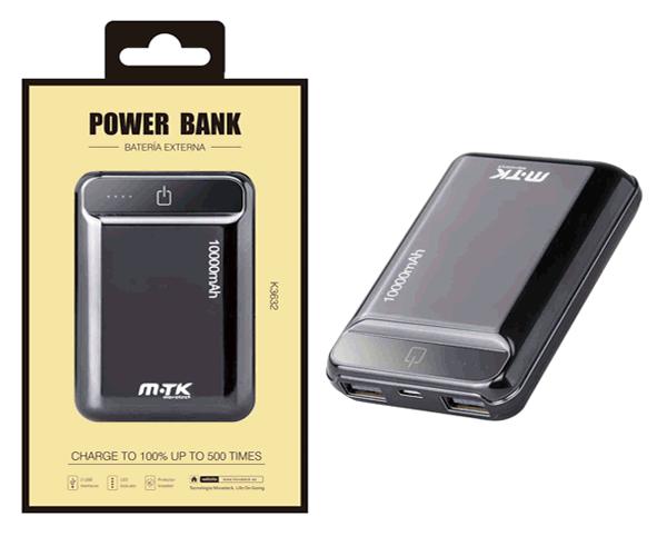 POWER BANK POCKETSTATION 2XUSB 10000 MAH NEGRO K3632 MTK