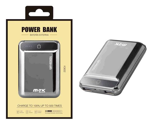 POWER BANK POCKETSTATION 2XUSB 10000 MAH GRIS K3632 MTK