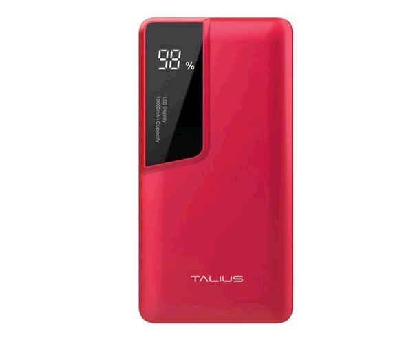 POWERBANK TALIUS 10000 MAH - MICRO USB - TYPE-C - ROJO TAL-PWB4010