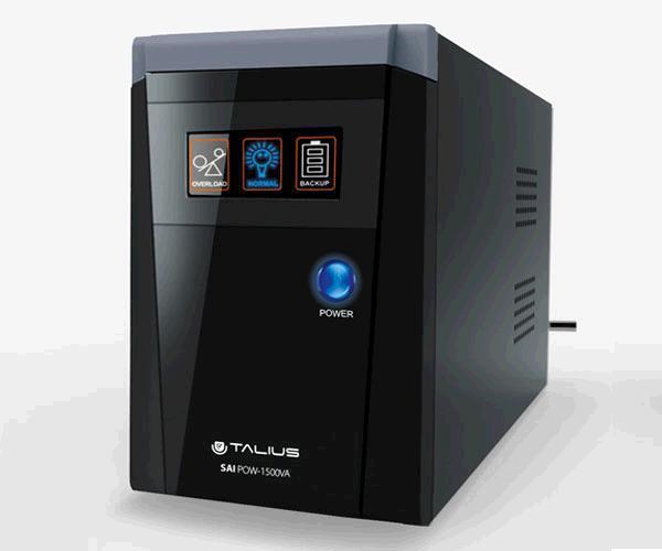 SAI TALIUS 1500VA LED - 3 SHUCKO - RJ45 - RJ11 - INTERACTIVOS OFFLINE