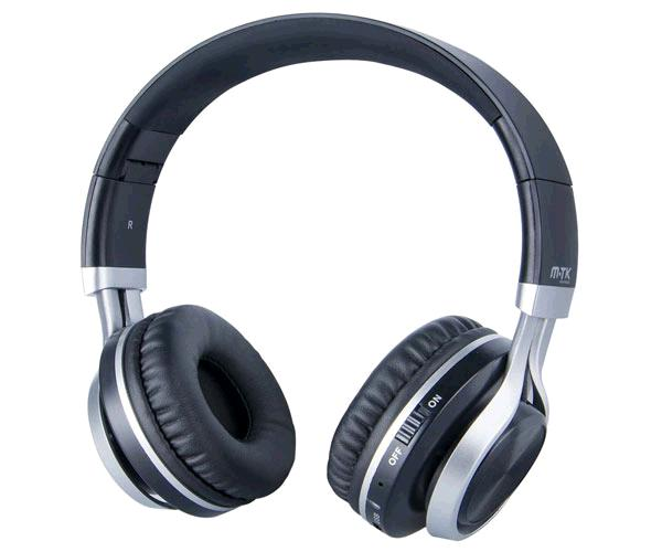AURICULARES BLUETOOTH + MICROFONO K3608 NEGRO-PLATA MTK