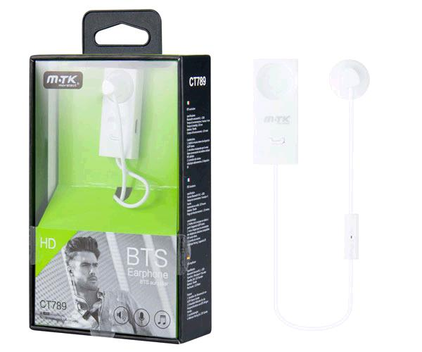 Auricular Bluetooth ct789 honor - con pinza blanco MTK