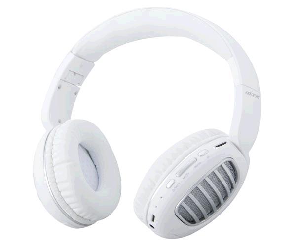 Auriculares Bluetooth Erica Ct978 - Mp3 - MicroSD - FM - Blanco - Plata MTK