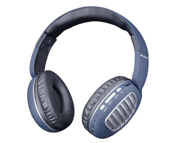 Auriculares Bluetooth Erica Ct978 - Mp3 - MicroSD - FM - Azul - Plata MTK