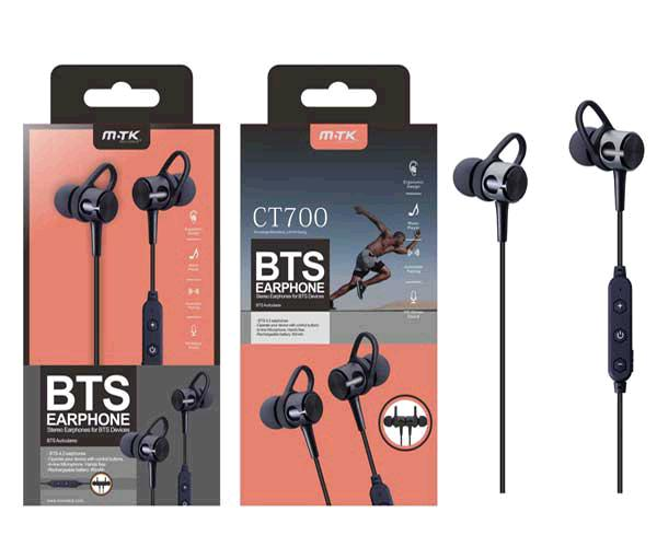 Auriculares Bluetooth Deportivos Ct700 - Negro - Mtk