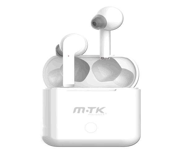 Auriculares estereo Bluetooth Ezio Ct054 - tws - blancos - con base de carga 500mah - Mtk