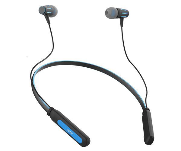 Auriculares Bluetooth 5.0 Deportivos con iman y banda para cuello - Ct985 - Ipx4 - Negro-Azul - Mtk