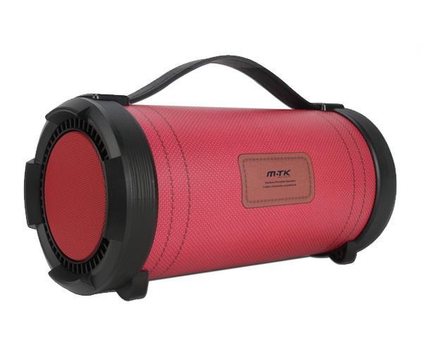 Altavoz Bluetooth alevin k3612 - 2w+18w - FM - USB - rojo -  MTK