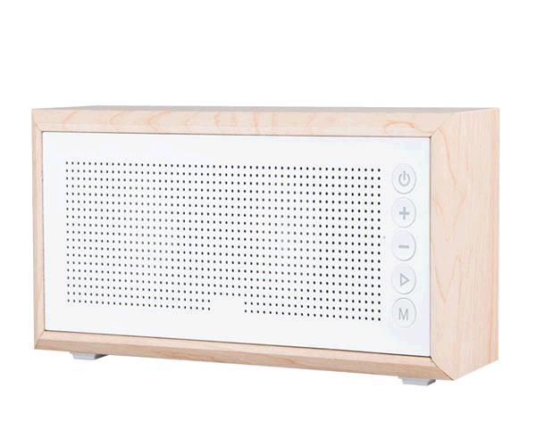 Altavoz madera claro ft802  Bluetooth USB - FM - MicroSD - aux - 2 woofer 10w