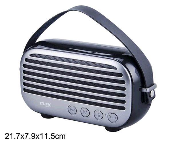ALTAVOZ BLUETOOTH RADIAL FT996 USB - FM - MICROSD - 10W NEGRO