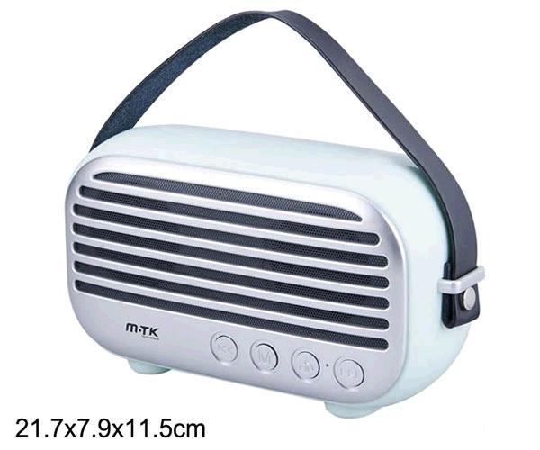 ALTAVOZ BLUETOOTH RADIAL FT996 USB - FM - MICROSD - 10W VERDE