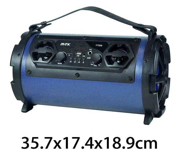 ALTAVOZ TUBO KARAOKE ELECTRA FT999 - 20W- BT- FM- USB- MSD- AZUL MTK