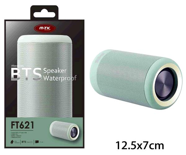ALTAVOZ IMPERMEABLE KIKAS FT621 BLUETOOTH - SD - VERDE - FUNCION POWERBANK - MTK