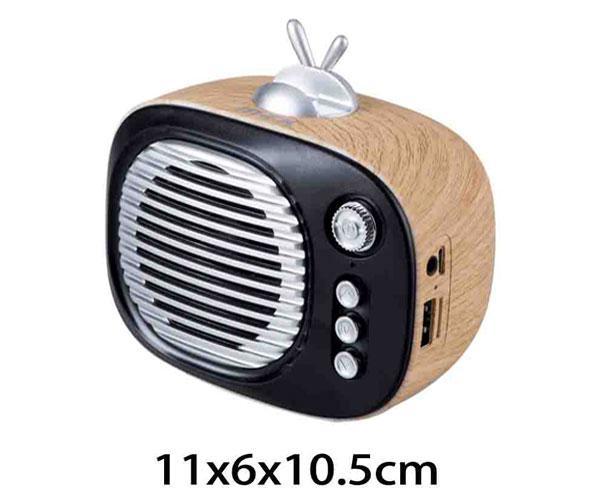 Mini altavoz Bluetooth ft633 con soporte smartphone USB - FM - MicroSD - madera - MTK