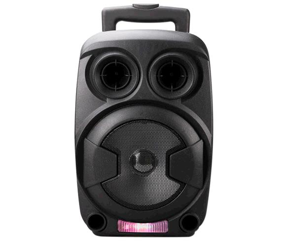 Altavoz Bluetooth trolley karaoke ft712 luz LED - 12w - FM - USB - sd - aux - mic - negro MTK