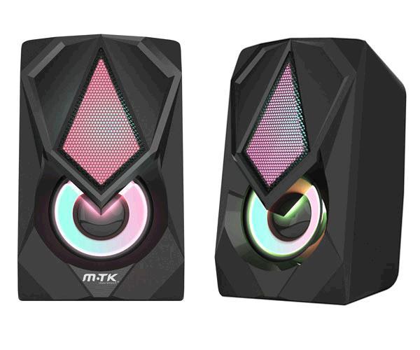 Altavoz Pc Gaming Buho Ft870 - 2x3W - Control de volumen - Led Rgb 7 colores - MTK