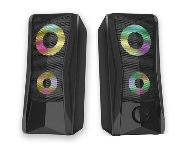 Altavoz Pc Gaming Balder Ft871 - 2x3W - Control de volumen - Led Rgb 7 colores - MTK