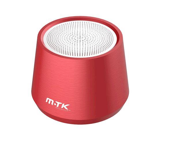 Mini altavoz Metal Bluetooth 5.0 Xatu Ft058- 4w - Mega bass - Tws - Luz Led - Rojo - One+