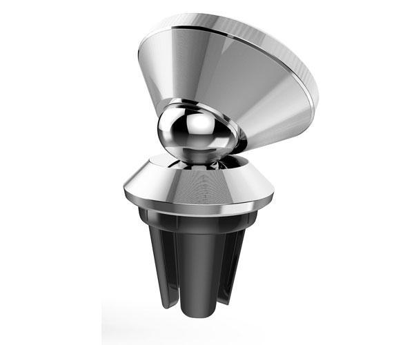 Soporte smartphone Et797 rejilla ventilacion magnetico - 360 Grados - Plata - Mtk