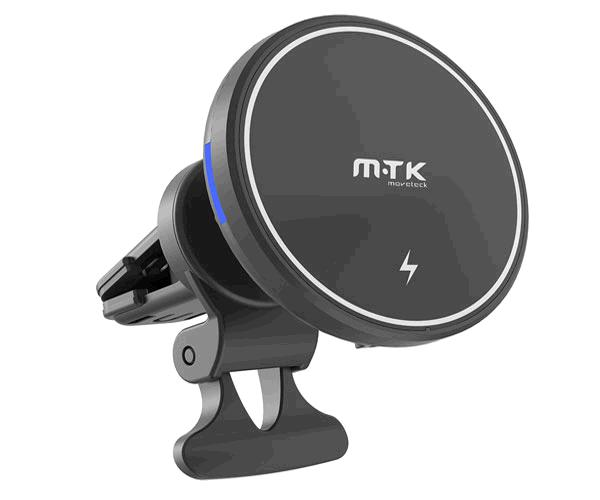 Cargador Inalámbrico con soporte magnetico para rejilla aire coche - Te5019 - 15w - Negro - Mtk