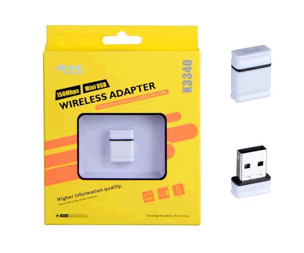 Adaptador USB nano wifi 150mbps MTK k3340