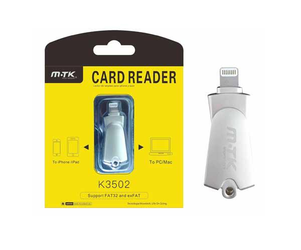 Lector de tarjetas iPhone 5-6-7- iPad  k3502