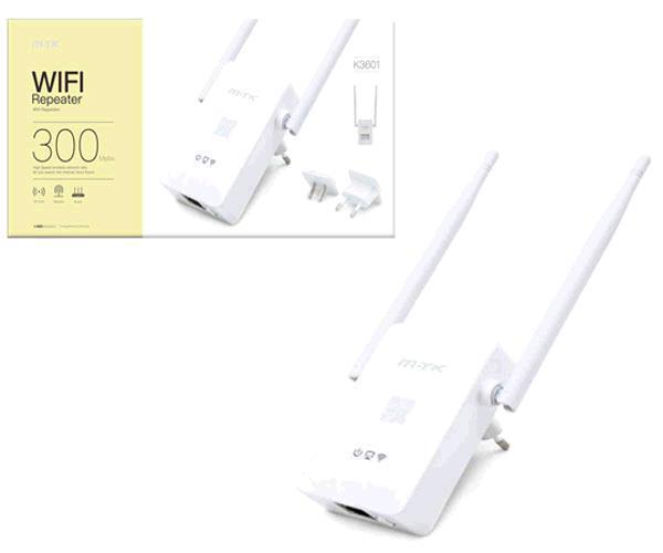 REPETIDOR WIFI 300MBPS + 2 ANTENAS K3601 MTK