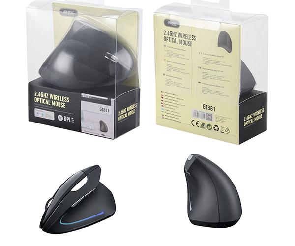 Ratón inalámbrico ergonomico Vertical SHARK GT881 negro MTK