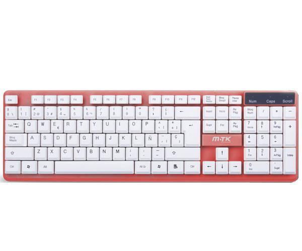 Teclado USB gt946 rojo MTK && INFORMATICA