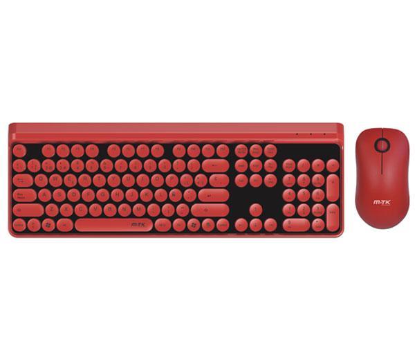 Combo teclado + raton Inalambrico Gt646 Rojo - 16 canales
