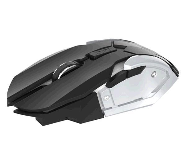 Ratón Inalambrico Gaming 6d Gt722 Onix - 1600 DPI - Negro-Plata - Mtk