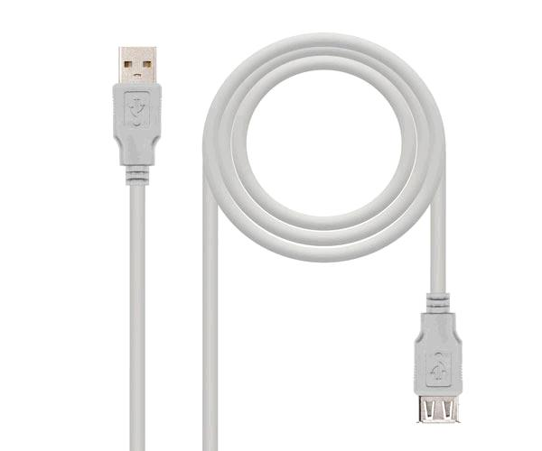 Cable prolongador USB 2.0  M-H  3m  Beige 10.01.0204