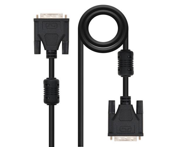 CableDVI-Dsinglelink18+1 M-M  1.8m - Ferrita - Nanocable 10.15.0602