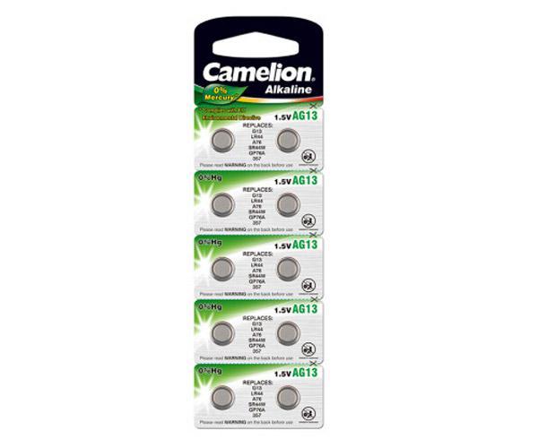 Pila boton litio LR44 1.5v Camelion (10 uds) - Ag13