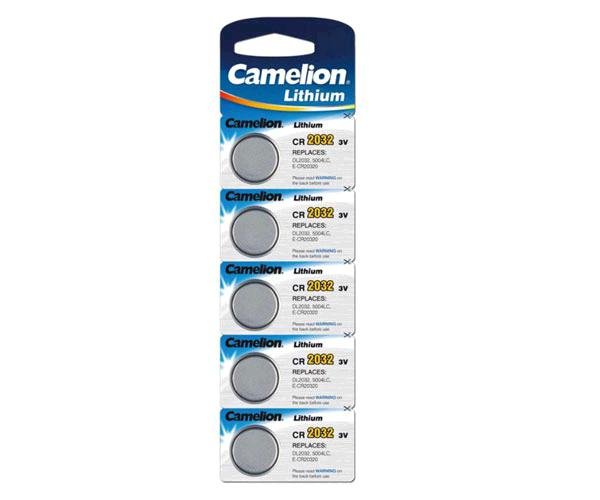 Pila boton litio cr2032 3v camelion  ( 5pcs)