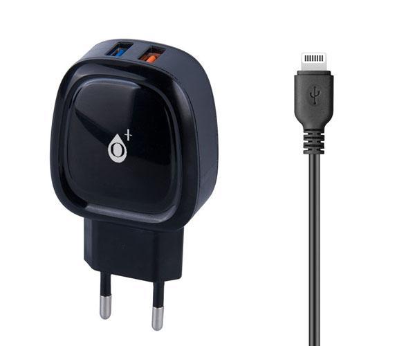 Cargador Red E-kko A6104 iPhone 5-6-7- 2xUsb + Cable - Negro - One+